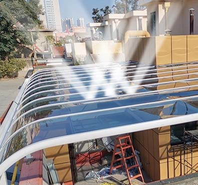 High Quality Polycarbonate Glazing cuts out 83% of the harmful UV Rays.